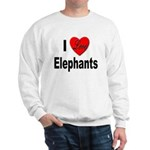 I Love Elephants (Front) Sweatshirt