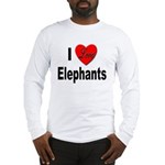 I Love Elephants (Front) Long Sleeve T-Shirt