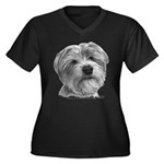 Biscuit, Shih Tzu-Terrier Women's Plus Size V-Neck