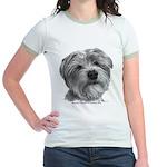 Biscuit, Shih Tzu-Terrier Jr. Ringer T-Shirt
