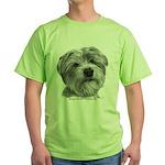 Biscuit, Shih Tzu-Terrier Green T-Shirt