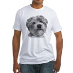 Biscuit, Shih Tzu-Terrier Fitted T-Shirt