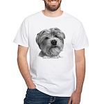 Biscuit, Shih Tzu-Terrier White T-Shirt