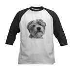Biscuit, Shih Tzu-Terrier Kids Baseball Jersey