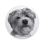 Biscuit, Shih Tzu-Terrier Ornament (Round)