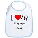 I Love My Togolese Dad Bib