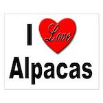 I Love Alpacas for Alpaca Lovers Small Poster