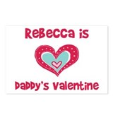 Rebecca is Daddy's Valentine Postcards (Package of