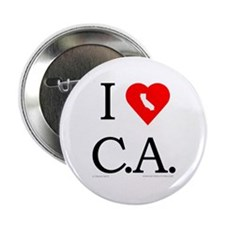 "I Love CA 2.25"" Button"
