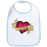 Love Heart Tattoo Bib