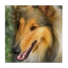 Cute Collie Tile Coaster