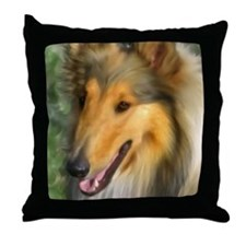 Unique Collie Throw Pillow