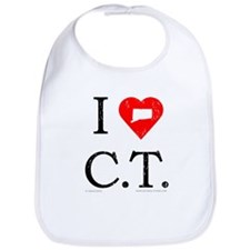 I Love CT Bib