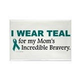 Teal For My Mom's Bravery 1 Rectangle Magnet