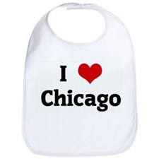 I Love Chicago Bib