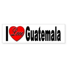 I Love Guatemala Bumper Car Sticker