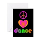 Peace, Love, Dance Valentine Greeting Cards (Pk of