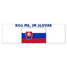 KISS ME IM SLOVAK Bumper Bumper Sticker