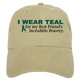 Teal For My Best Friend's Bravery 1 Baseball Cap