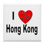 I Love Hong Kong Tile Coaster