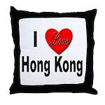 I Love Hong Kong Throw Pillow