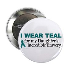 "Teal For My Daughter's Bravery 1 2.25"" Button (10"