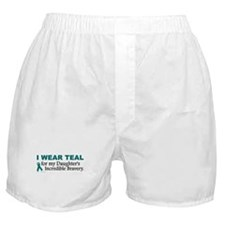 Teal For My Daughter's Bravery 1 Boxer Shorts