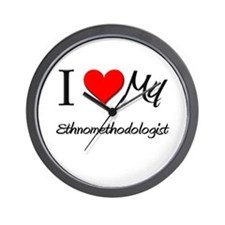 I Heart My Ethnomethodologist Wall Clock