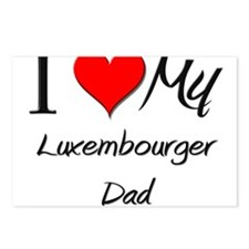 I Love My Luxembourger Dad Postcards (Package of 8
