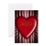 swinger Greeting Card