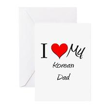 I Love My Korean Dad Greeting Cards (Pk of 10)