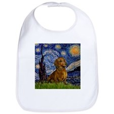 Starry Night & Dachs (#1) Bib
