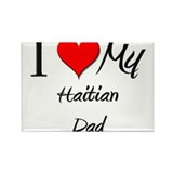 I Love My Haitian Dad Rectangle Magnet (10 pack)
