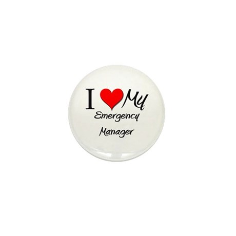 I Heart My Emergency Manager Mini Button (10 pack)