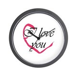 I love you Heart Wall Clock