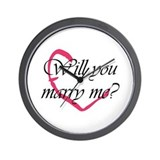 Marry Me Heart Wall Clock