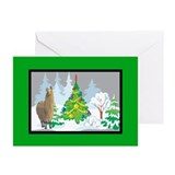 Christmas Tree Alpaca Christmas Greeting Cards (Pk