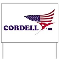 Don Cordell 08 flag Yard Sign