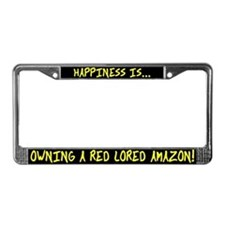 HI Owning Red Lored Amazon License Plate Frame