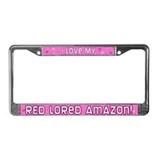 Pink Polka Dt Red Lored Amazon License Plate Frame