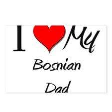 I Love My Bosnian Dad Postcards (Package of 8)