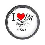 I Love My Belizean Dad Wall Clock