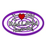Hypno I Love My Red Lored Amazon Sticker Purp