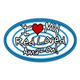 Hypno I Love My Red Lored Amazon Sticker Blue
