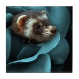 Funny Ferret Tile Coaster