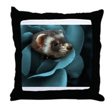 Funny Ferret Throw Pillow
