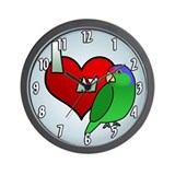 Cartoon I Love My Lilac Crowned Amazon Clock