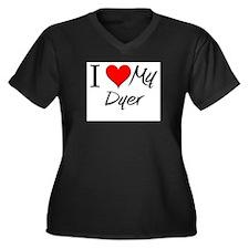 I Heart My Dyer Women's Plus Size V-Neck Dark T-Sh