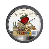 Cute School Teacher Wall Clock