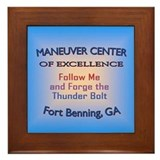 Cute Maneuver center of excellence Framed Tile